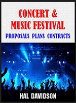 Concert & Music Festival Proposal Plans Contract book cover