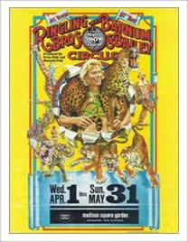 poster for Ringling Bros. Circus