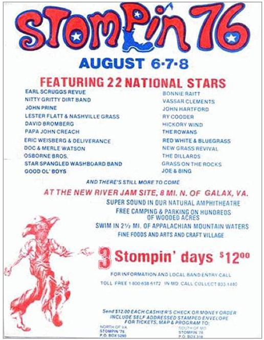 Stompin 76 Concert Line-up